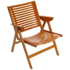 Rex Folding Chair Amrchair by Niko Kralj, Plywood Beech, 1952