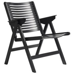 Rex Lounge Chair in Black Oak, Solid Frame and Plywood, Mid-Century Modern Style