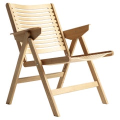 Rex Lounge Chair in Natural Oak, Solid Frame + Plywood, Mid-Century Modern Style