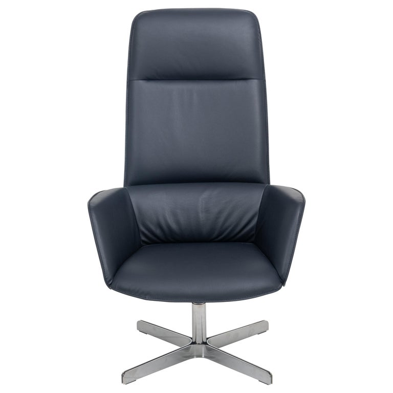 For Sale: Blue (Royal) Rex Posture Support Leather Armchair by FSM