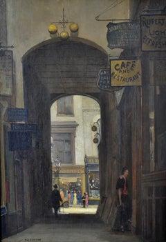 Rupert Court, Soho - 1930s London Street Scene by Rex Vicat Cole