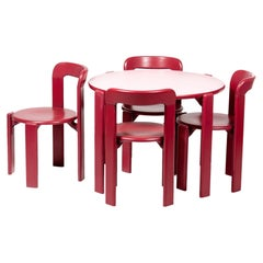 Rey Junior Set, Kids Table and Chairs in Candy, Designed by Bruno Rey, in Stock
