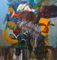 Outdoor Experience -yellow, blue, sienna, green, red 2019 78 X 78