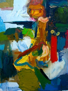 Outdoor Experiences III 48 X 36 Blue, red, yellow