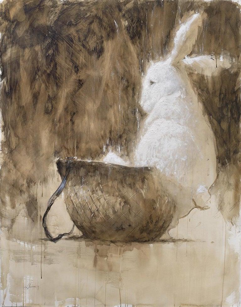 Reynier Llanes Animal Painting - Grand Finale - Coffee Painting