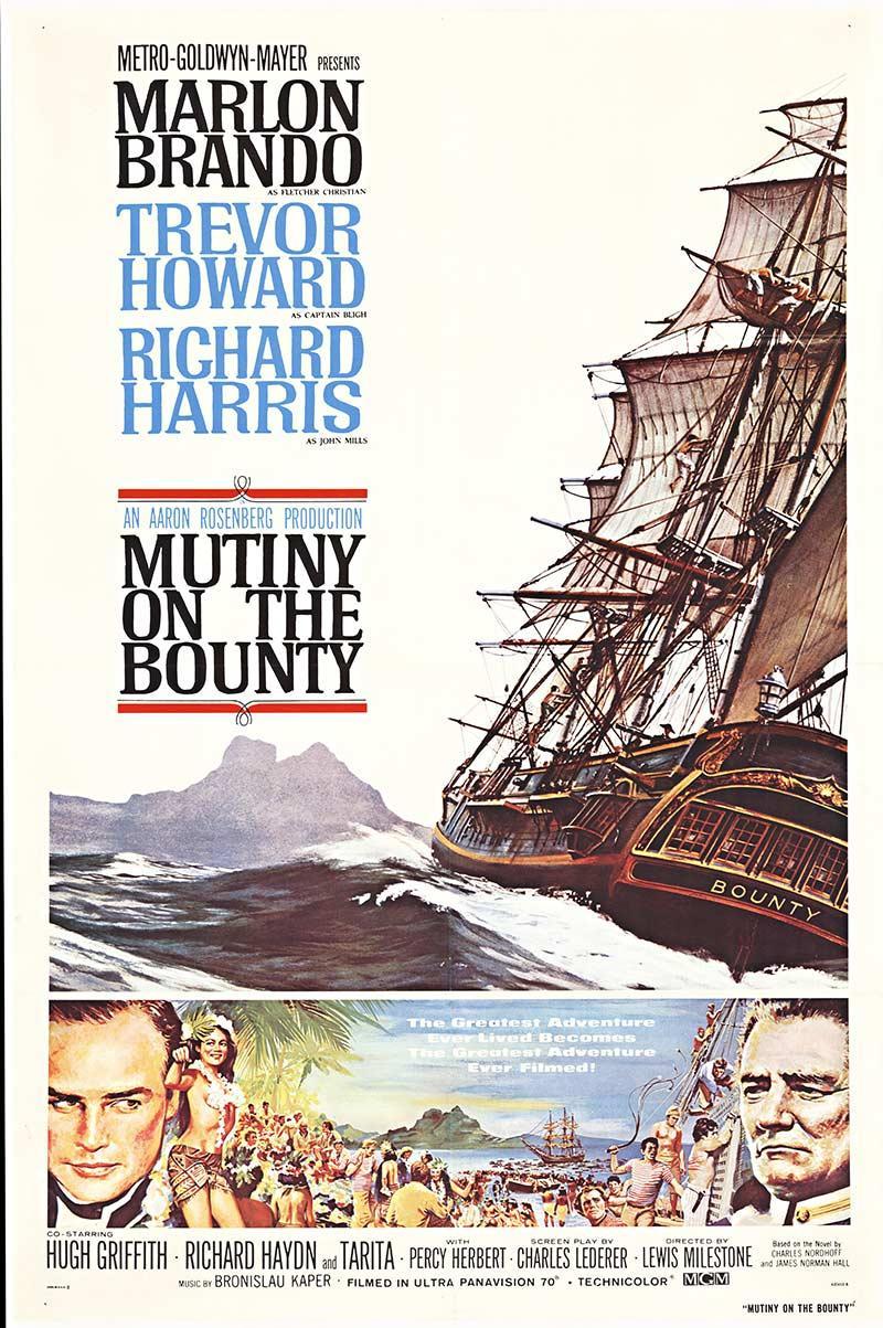 Mutiny On The Bounty original 1964 movie poster with Marlon Brando