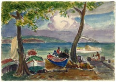 Impressionist Drawings and Watercolor Paintings