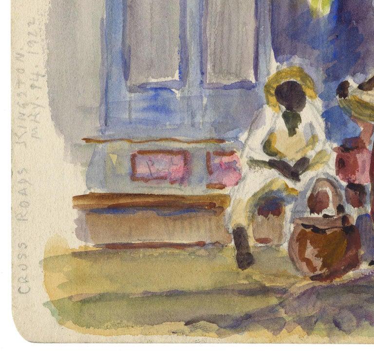 Cross Roads, Kingston [Jamacia]. - American Impressionist Art by Reynolds Beal