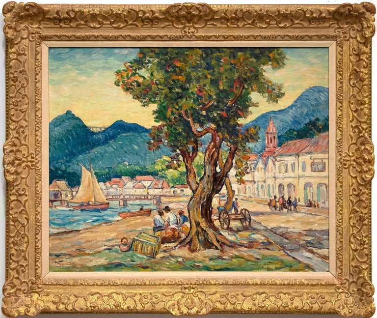 Kingstown, St. Vincent - Painting by Reynolds Beal
