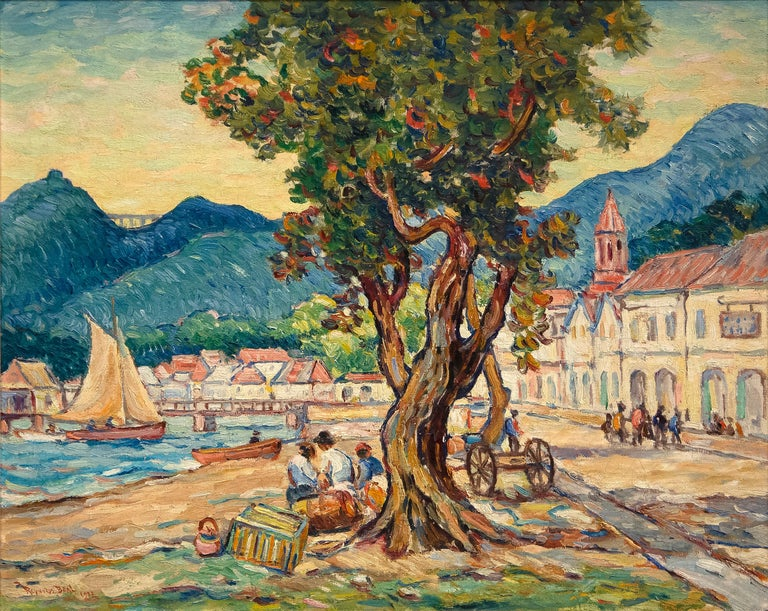 Reynolds Beal Landscape Painting - Kingstown, St. Vincent