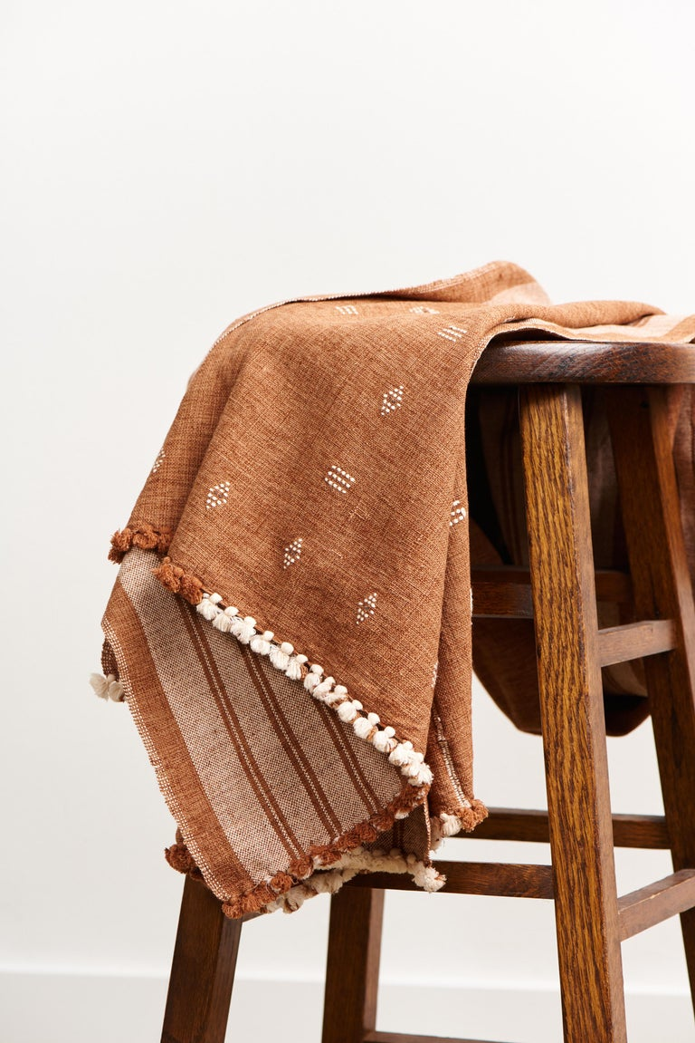 Custom design by Studio Variously, REYTI is custom designed King Size bedspread / coverlet handwoven by master weavers in India.  A sustainable design brand based out of Michigan, Studio Variously exclusively collaborates with artisan communities