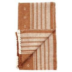 REYTI Earthy Minimal Pattern Handloom King Bedspread Coverlet in Organic Cotton