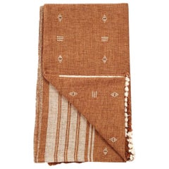REYTI Handloom Throw / Blanket In Organic Cotton With Minimal Patterns