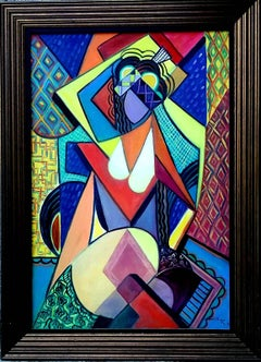 Cubist Nude with Hat