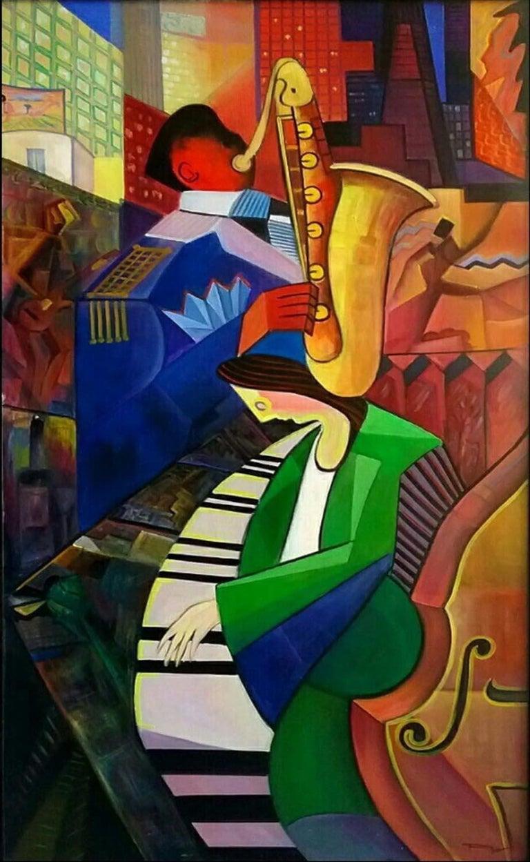 REZA AFROOKHETH Figurative Painting - Music Festival
