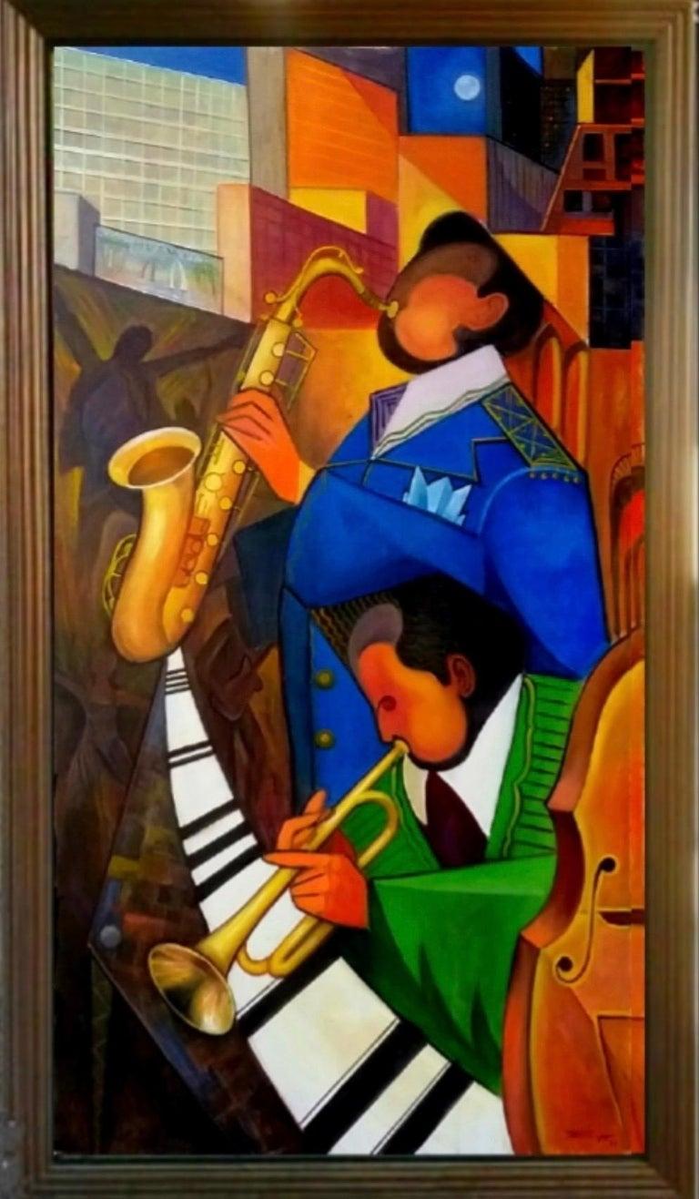 REZA AFROOKHETH Figurative Painting - New York Music Festival #2