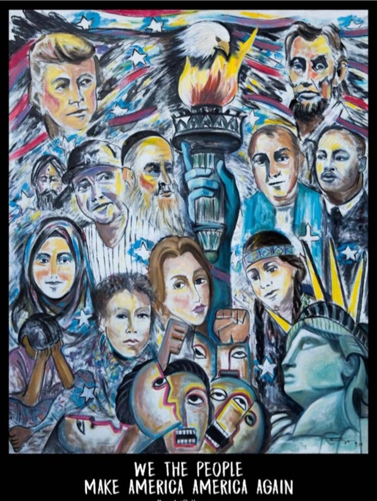 REZA AFROOKHETH Figurative Print - We The People Make America America Again