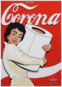 Corona (Street Art, Pop Art, Coke, Coca Cola, Pin Up, Toilet Paper)