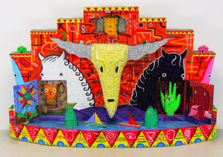 Mixed-media Postmodern electrified sculpture. R.G. Rodney Allen Greenblat, (American, b. 1960).   Dimensions: 30.25