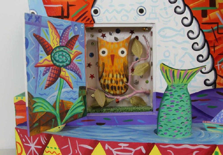 R.G. Rodney Allen Greenblat Mixed-Media Postmodern Electrified Wall Sculpture In Good Condition For Sale In Brooklyn, NY