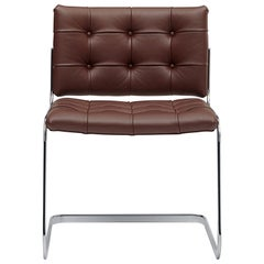 RH-305 Bauhaus Dining Tufted Chair Leather and Stainless Steel Legs by De Sede