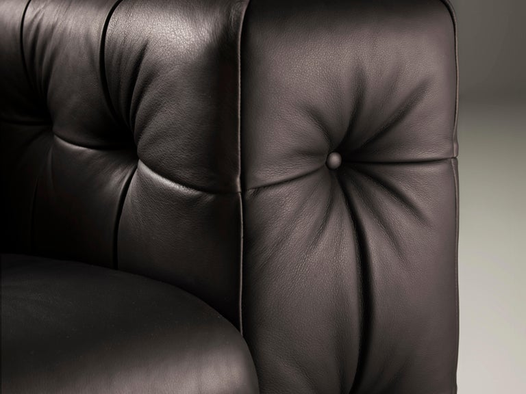 RH-306 Large Tufted Leather Chesterfield Sofa by Robert Haussmann In New Condition For Sale In New York, NY