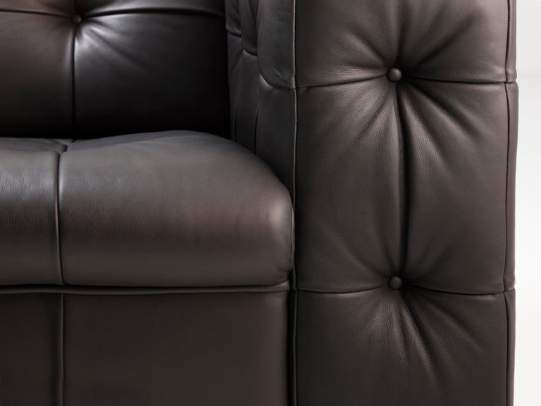 Contemporary RH-306 Large Tufted Leather Chesterfield Sofa by Robert Haussmann For Sale