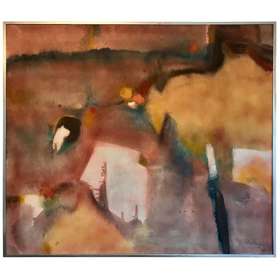 Hananiah Harari Modernist Painting For Sale at 1stdibs