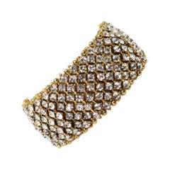 Rhinestone Crystal Costume Jeweled Link Bracelet