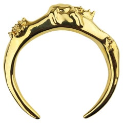 Pieces NewYorkCity 18k Solid Gold over Brass Rhino Bracelet