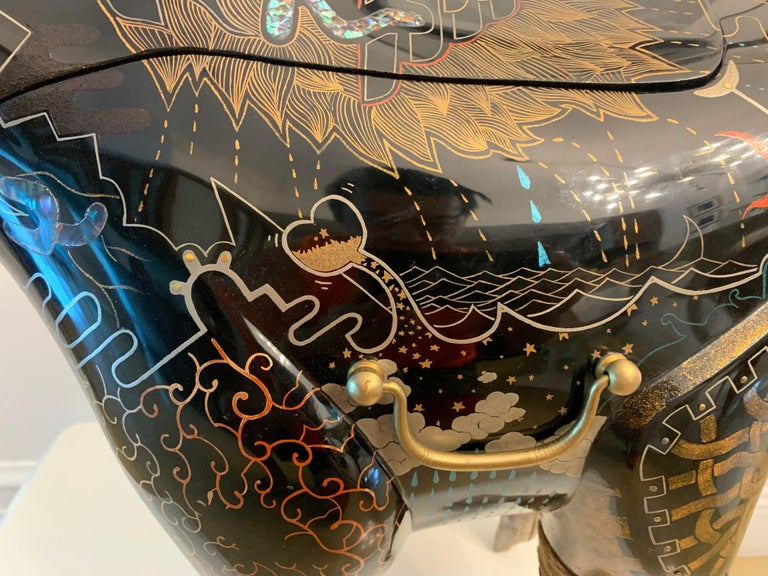 Rhino Contemporary Japanese Lacquer Art by Someya Satoshi For Sale 5