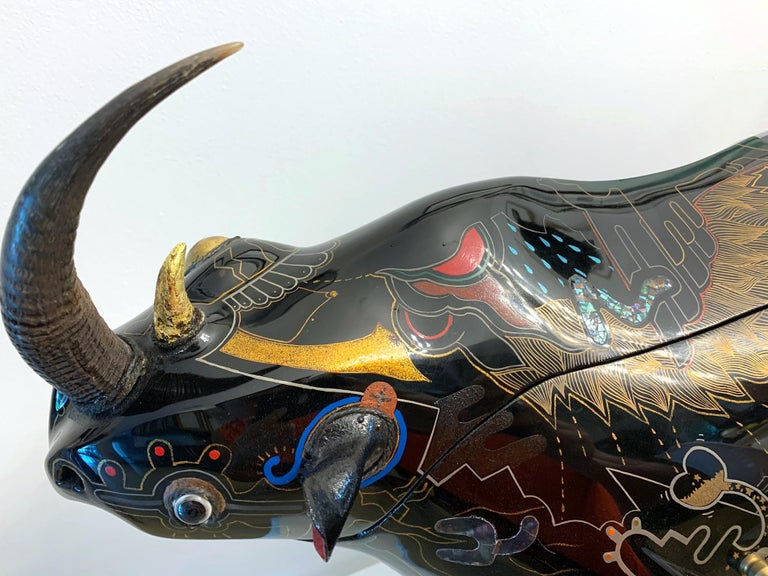Rhino Contemporary Japanese Lacquer Art by Someya Satoshi For Sale 12