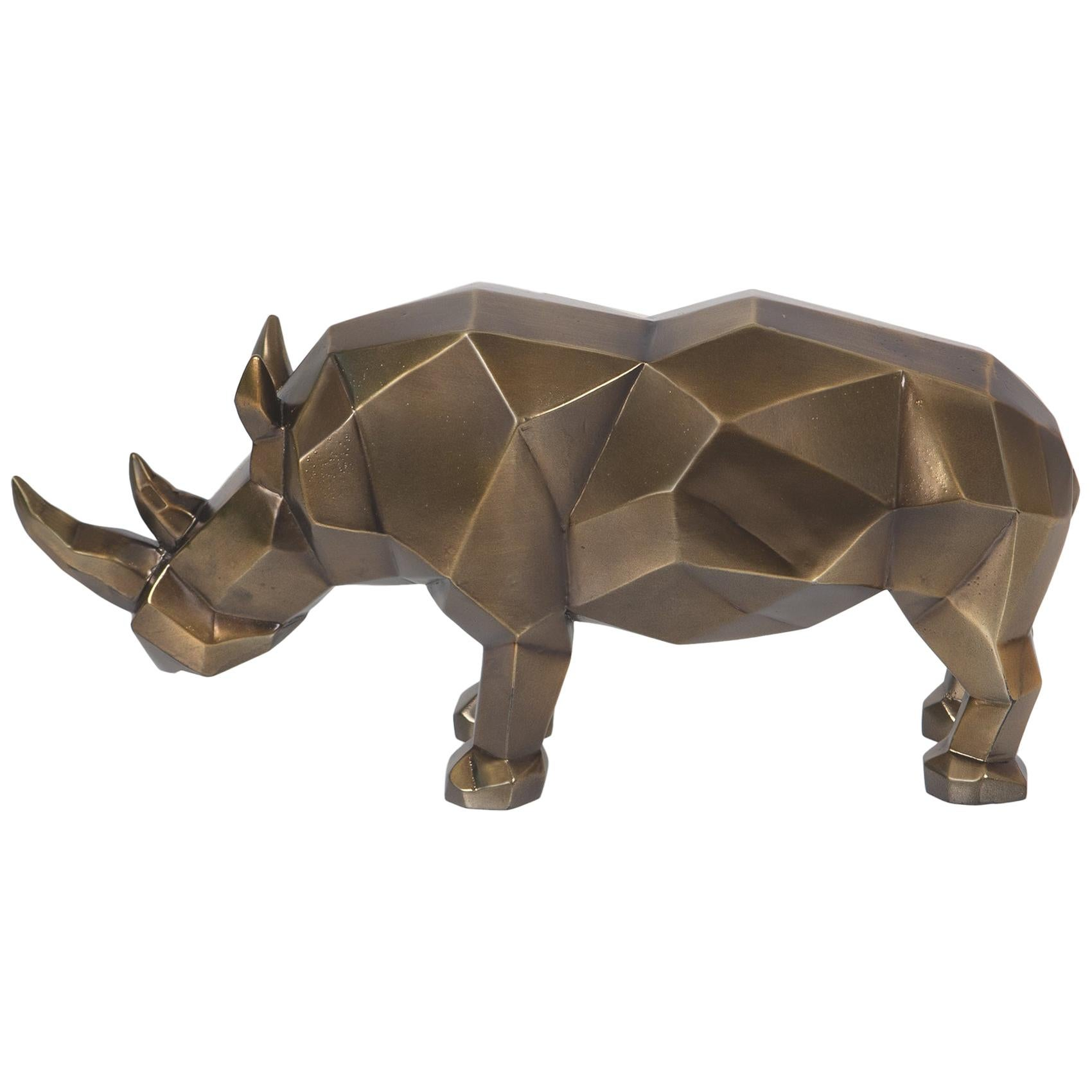 Rhino Resin Sculpture