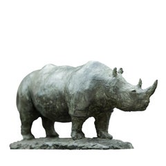Rhinoceros Bronze Sculpture