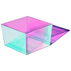 Rho Square Side Table with Colour Effect Coating