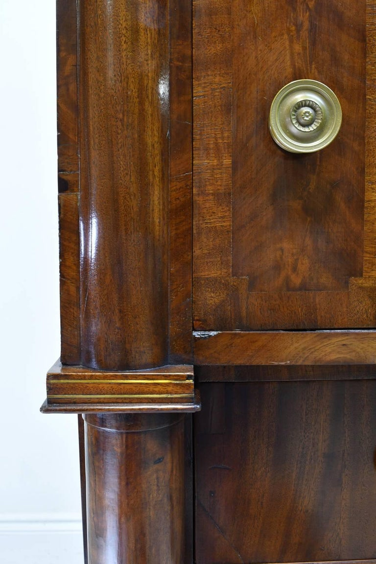 Rhode Island Empire Butler's Chest of Drawers with Desk in Mahogany, circa 1825 For Sale 2
