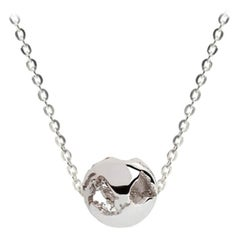 Rhodium Small Charm of the World Necklace by Cristina Ramella