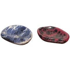 Rhodochrosite and Sodalite Specimen Polished Bowls
