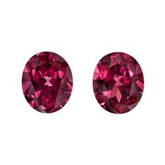 Rhodolite Garnet Earrings Gemstone Pair 9.42 Carat Unset Loose Gems