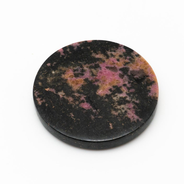 Rhodonite Coasters, Set of 4 In Excellent Condition For Sale In New York, NY