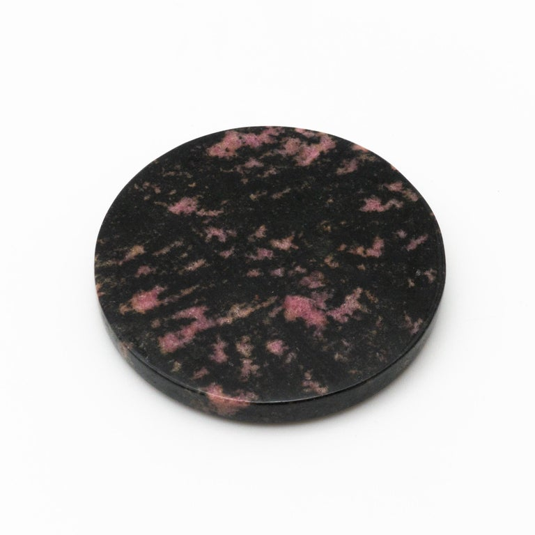 Stone Rhodonite Coasters, Set of 4 For Sale