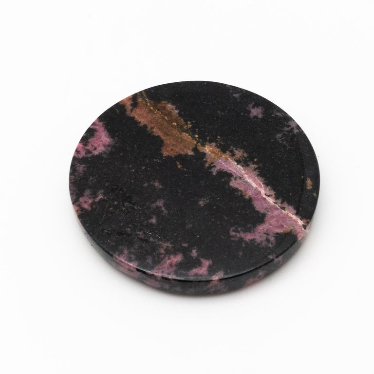Rhodonite Coasters, Set of 4 For Sale 1