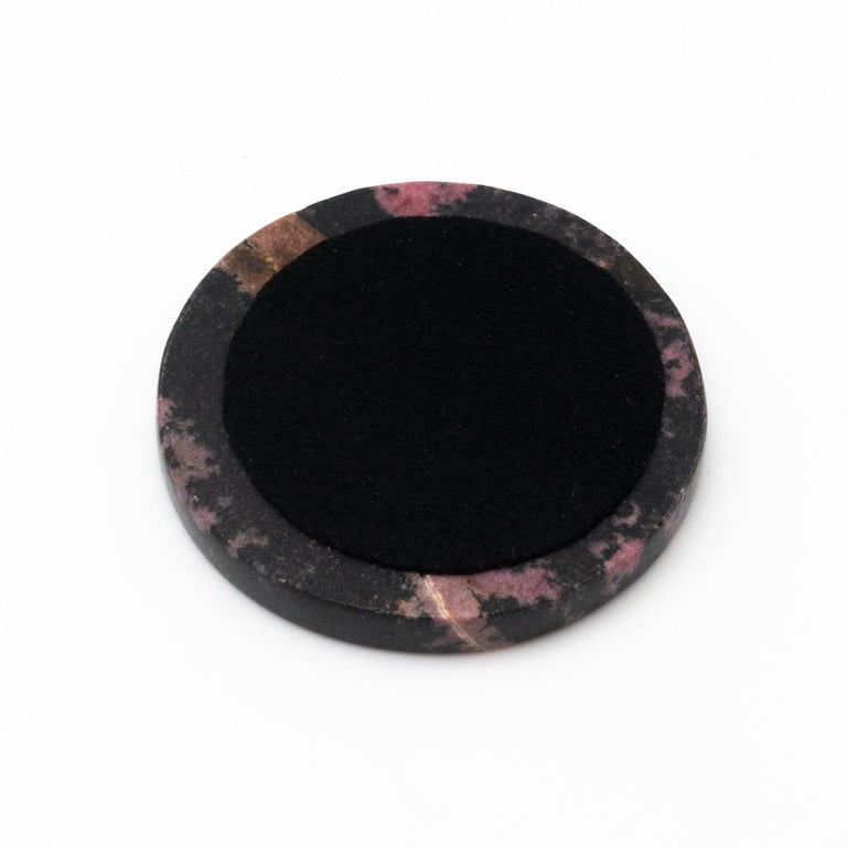 Rhodonite Coasters, Set of 4 For Sale 2