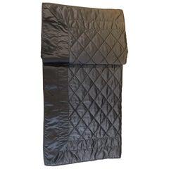 Rhombus Pattern Saddle Stich Hand Embroidered Silk Satin Throw Color Khaki-Brown