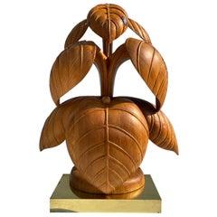 Rhubarb Leaf Sculpture Lamp
