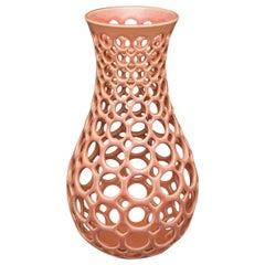 Rhubarb Pierced Tabletop Sculpture or Vessel
