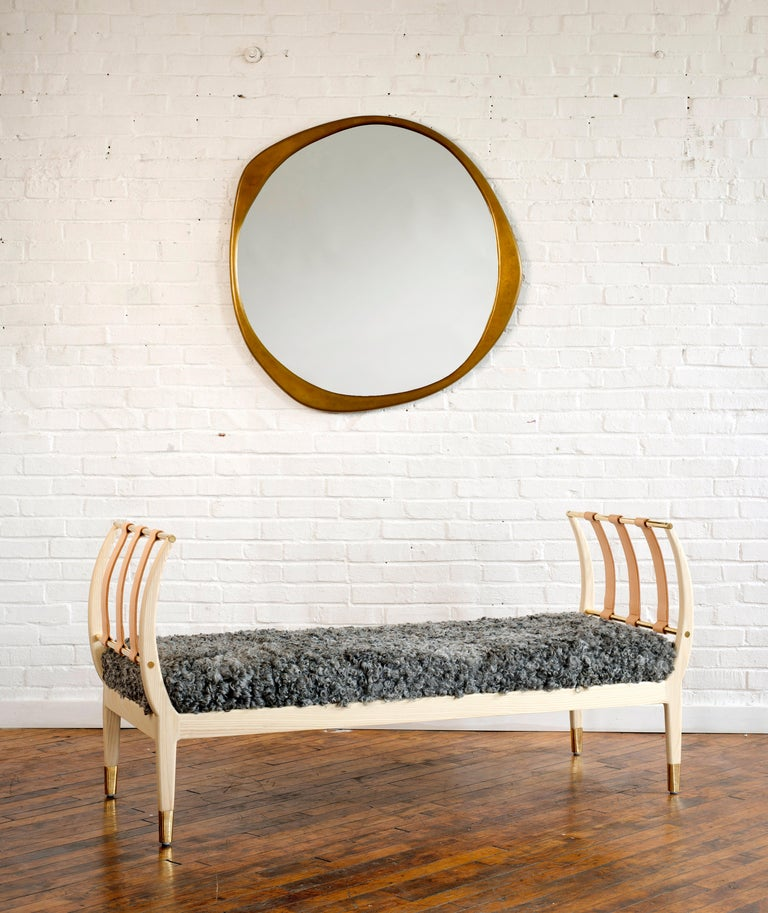 Inspired by the rib of a whale, our Rib Bench features curved lines that are graceful, yet solid and strong. This piece enhances any living space with its sculptural form and unmistakable function. This handcrafted bench is made with traditional
