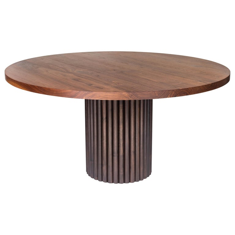 Ribbed Dining in Solid North American Hardwood For Sale