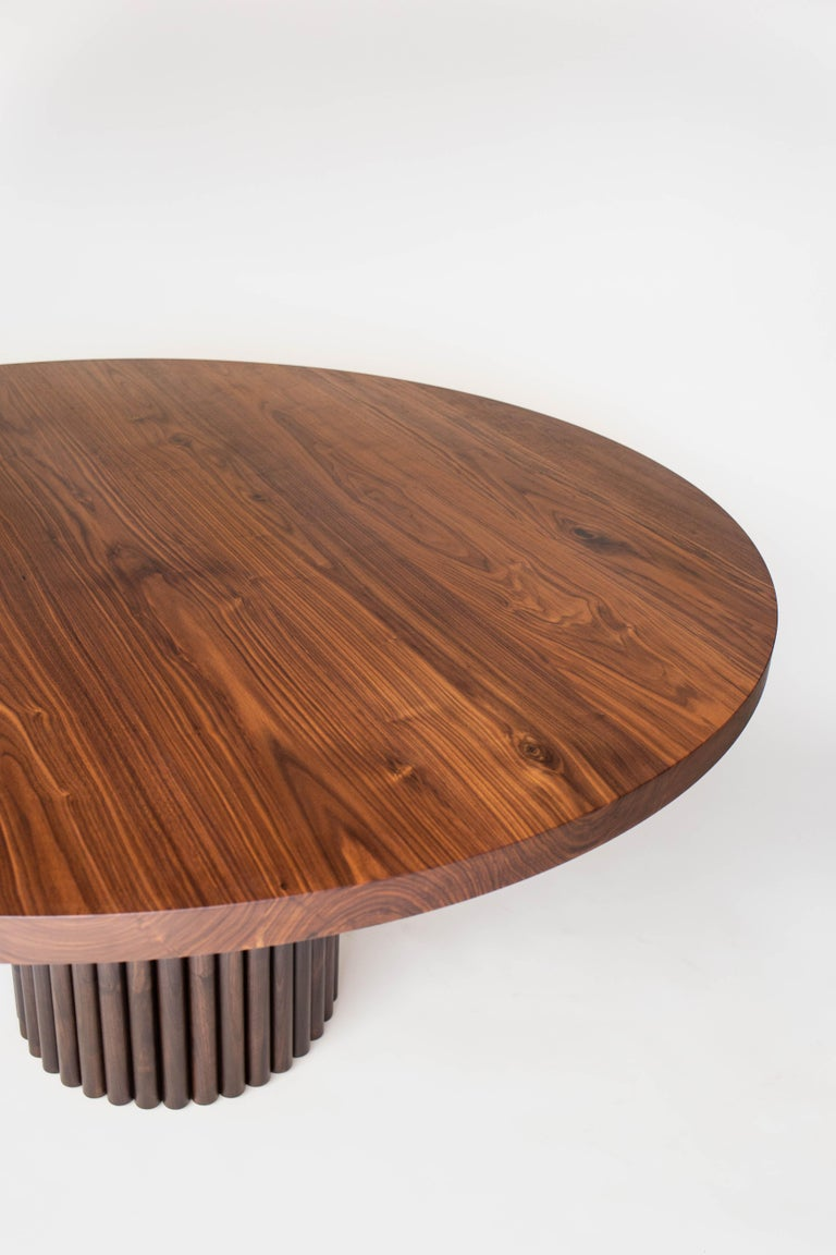 Canadian Ribbed Dining in Solid North American Hardwood For Sale