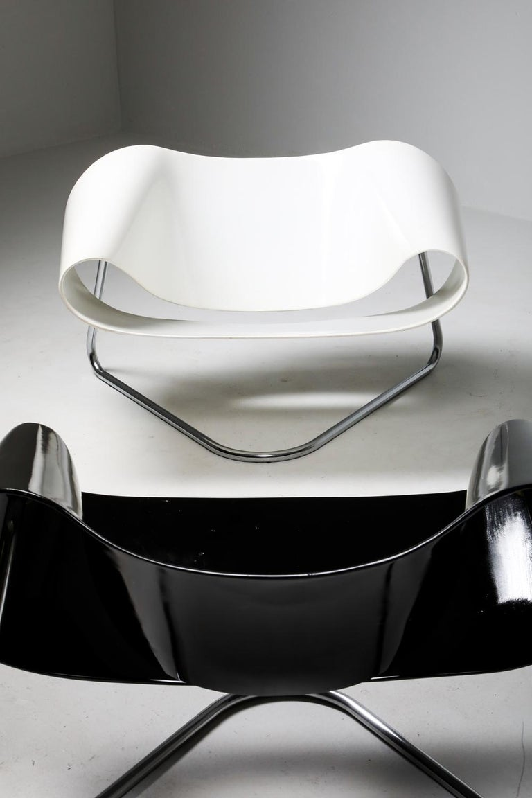 Ribbon Chair by Franca Stagi for Bernini, 1961 For Sale 10